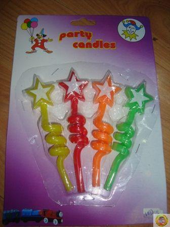 Свещички за рожден ден-спирала със звезда