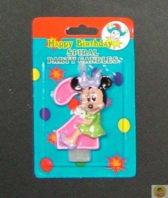 Свещичка за рожден ден Мини Маус 2