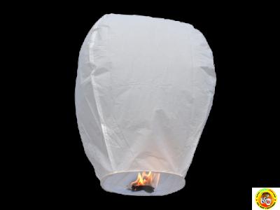 Летящ фенер-бял-83см