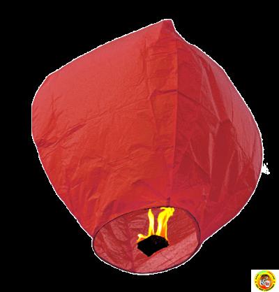Голям ЕКО хартиен фенер-червен