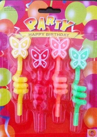 Свещички за рожден ден-спирала с пеперуда