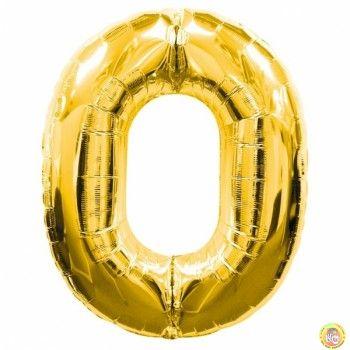 Фолиев балон цифра 0,златен - гигант-100см
