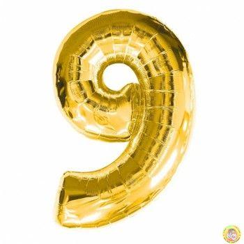 Фолиев балон цифра 9,златен - гигант-100см