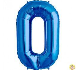 Фолиев балон цифра 0,син - голям-80см