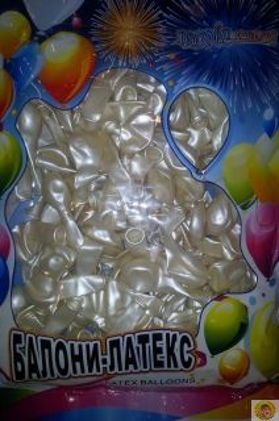 Малки кръгли балони- перла, 12см, 100бр.